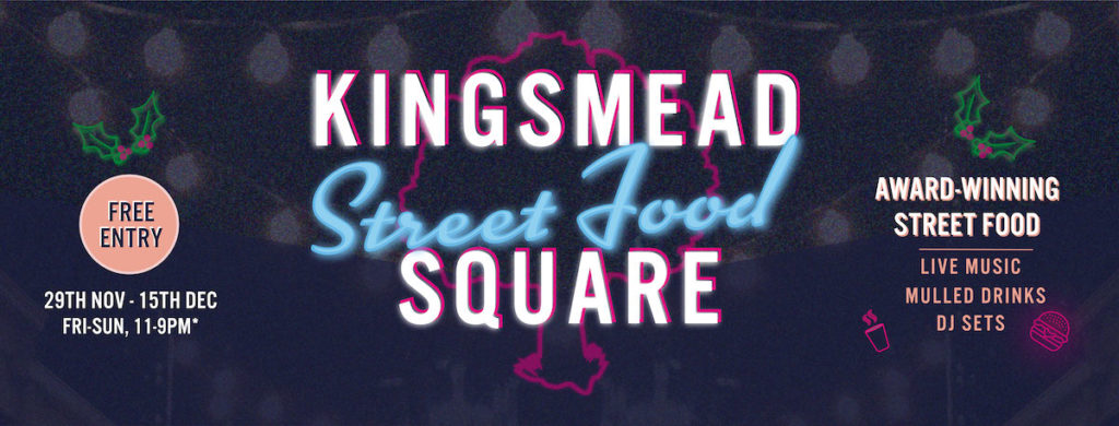 Kingsmead Street food square coming soon banner