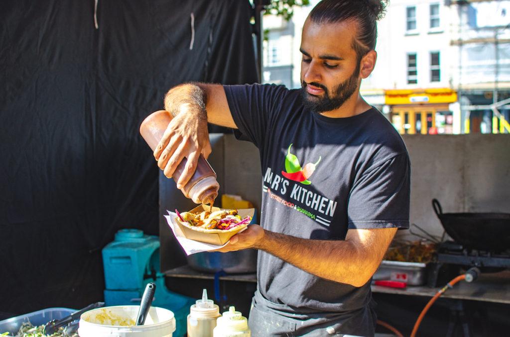 Omar's kitchen street food stall at Bristol's harbourside market